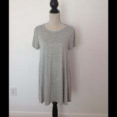 Light grey t shirt dress with sleeves Brand new, never been worn Dresses Mini