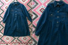 Vintage 1970's Jag Jr. Long Sleeved Button Up Denim Dress Women's XS / Retro/Preppy/Boho Bohemian Women's Dress Jeans Blue Denim Raw by thiefislandvintage on Etsy