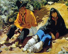 walter ufer artist | Walter Ufer, Jim and His Daughter, oil, 40 x 50. National Cowboy ...