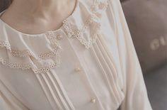 #blouse #cream #bright #old