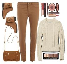 """""""earth tones"""" by ecem1 ❤ liked on Polyvore featuring New Directions, Dorothy Perkins, Lauren Ralph Lauren and Charlotte Tilbury"""
