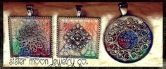 One of a kind Prisma pendants... Hand painted and oh so pretty