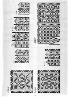 "Photo from album ""Умельцы on Yandex. Knitted Mittens Pattern, Knit Mittens, Knitting Socks, Knit Socks, Knitting Charts, Knitting Stitches, Fair Isle Chart, Norwegian Knitting, Scandinavian Pattern"