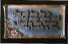 Mitchell Art Company metal scripture plaques