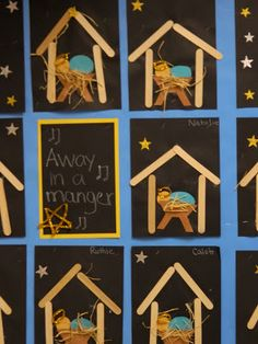 the vintage umbrella: Five for Friday -- popsicle stick nativity
