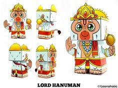 Hanuman en paper doll