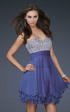 Beaded Bodice Short Prom Dresses Purple with Sequin Sale http://www.hotpromdresses2013.com