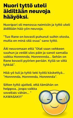 nuor_tytto_uteli_aidiltaan_neuvoja_haayoksi_2 Lol, Random, Nice, Memes, Funny, Meme, Jokes, Hilarious, Entertaining