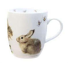 Wildlife Porcelain Mugs by Marjolein Bastin. Rabbit Art, Bunny Rabbit, Rabbit Hole, Marjolein Bastin, Easter Celebration, Porcelain Mugs, Cute Mugs, Wildlife Art, Easter Bunny