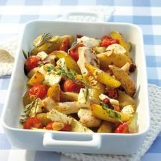 Weight Watchers Recepten Propoints Food Ideas For 2019 Ww Recipes, Greek Recipes, Cooking Recipes, Healthy Recipes, I Love Food, Good Food, Greek Potatoes, Oven Dishes, Happy Foods