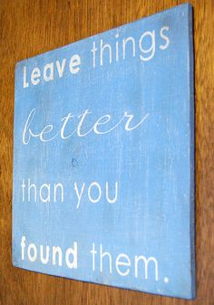 Leave Things Better Weathered Wood Wall Art by mams on Etsy