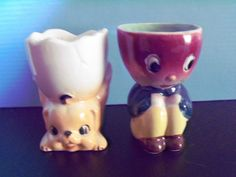 I love this little beet person egg cup.  Just wonder what it has to do with eggs?  The bear must be his pet.