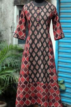 long kurta - auburn winds & chestnut brown