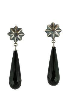 Onyx Earrings • Onyx Drops • Facetted Onyx • Dangly Earrings • Silver Earrings •  Stud Earrings • Valentines Gift • Modern Jewellery •