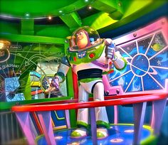 Buzz Lightyear's Space Ranger Spin. first ride we go on every time we go to disney.