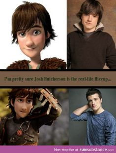 Hiccup/Josh Hutcherson <<<<<< The really weird thing is that in the Hunger Games, Peeta loses his leg. and in How To Train Your Dragon, Hiccup loses his leg as well. Disney Pixar, Disney And Dreamworks, Disney Movies, Disney Stuff, Jack Frost, How To Train Dragon, How To Train Your, Zac Efron, Hunger Games