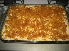 Creamy Cheesy Potatoes love this my neighbor does it without mushroom soup and is still delicious