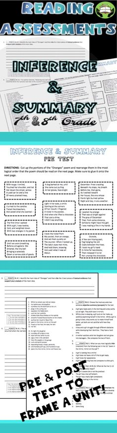 $This resource can be used at the beginning and ending of a unit and is PERFECT FOR STATE SLO REQUIREMENTS. Reading Assessment, Reading Intervention, Teaching Critical Thinking, Teaching Reading, School Resources, Teaching Resources, Teaching Ideas, Education Middle School, Teaching Secondary