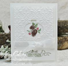 Stampin' Up! Pines & Pointsettias Christmas card