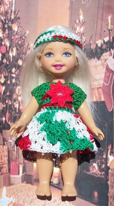 Six inch Mattel Kelly dolls were only made for a short time. It is quite difficult to find clothing to fit them. Here is a free crochet pattern to make your own clothing.
