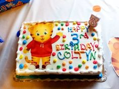 Daniel Tiger Cake Idea.  I did not make this.  It is from  Daniel Tiger Facebook Page-no photo credit listed