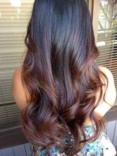 caramel balayage ombre medium straight hair - Google Search