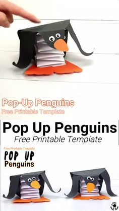 Pop Up Penguin Craft Pop Up Penguin Craft,Falten Origami Papier POP UP PENGUIN CRAFT – Use the free printable template to make the cutest DIY penguin toys that actually bounce up and down! Winter Crafts For Kids, Winter Fun, Diy For Kids, Summer Crafts, Pop Up, Instruções Origami, Origami Videos, Penguin Craft, Toy Craft