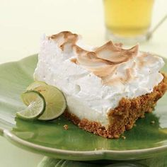 We love our healthy Key Lime Pie recipe. Make this for your Fourth of July party! Mmm key lime pie is my fave