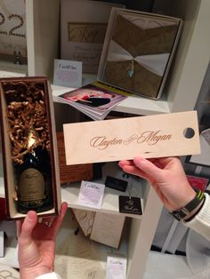 More of the beautiful wine bottle invitation