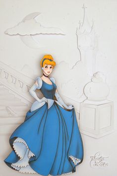 Cinderela (Cinderella) - Paper Sculpture by Vlady and Helena Keiko - Exposição Disney in Paper