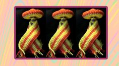 7 #crochet sombrero patterns for Cinco de Mayo - Crochet Geek brings us a free crochet pattern and video tutorial for a crochet sombrero and matching cape designed to go on Hot Sauce.