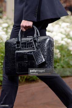 Accessories, a handbag detail on the runway at the Dior Homme Spring Summer 2016 fashion show during Paris Menswear Fashion Week on June 27, 2015 in Paris, France.