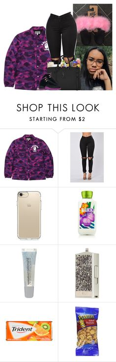 """🚺"" by kennisha84 ❤ liked on Polyvore featuring A BATHING APE, Speck, Maybelline and Yves Saint Laurent"