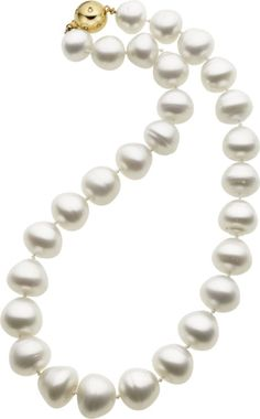 Baroque South Sea Cultured Pearl, Diamond, Gold Necklace