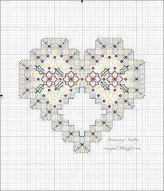 Tarareo Agujas: Modelo de la Navidad Ornamento del corazón