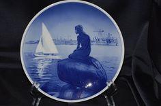 Royal Copenhagen Porcelain Mermaid Plate Vintage Item #2631 by BigBlossomAntiques on Etsy