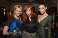"January Jones, Christina Hendricks, and Jessica Pare – ""Mad Men"" season 7 premiere in L.A (April 2, 2014)"