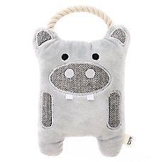 ED Ellen DeGeneres Hippo Dog Toy - Plush, Rope, Squeaker