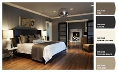 Paint colors from chip it! Good ideas for a select of colors in a  bedroom.