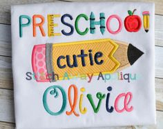 first day of preschool shirt - Google Search