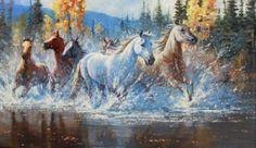"""""""Wild Horses Running Free""""  by Douglas Wodark kp"""