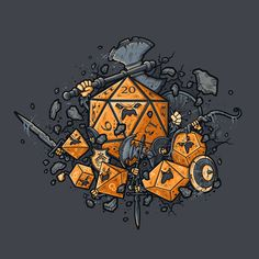 Shop RPG United dungeons and dragons t-shirts designed by LetterQ as well as other dungeons and dragons merchandise at TeePublic. Dungeons And Dragons, Pen & Paper, Tabletop Rpg, Fantasy Rpg, Geek Out, Magic The Gathering, Game Art, Decir No, Board Games
