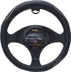 Moda Motorsports 9032 Medium Black-Ice Crystal Bling Leatherette Steering Wheel Cover  Bright prima bella crystals designEasy slip on installation with no tools requiredProtects your hands from hot and cold extremes  http://good-deals-today.com/product/moda-motorsports-9032-medium-black-ice-crystal-bling-leatherette-steering-wheel-cover/