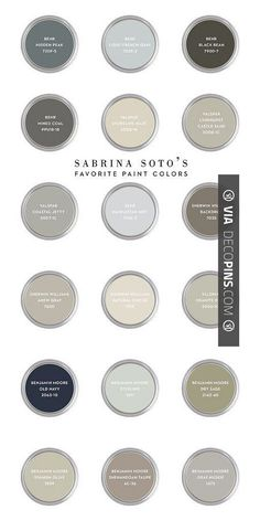 So awesome! - Paint Color Palettes Sabrina Soto Favorite Paint Colors. Sabrina Soto Color Palette Ideas. #SabrinaSotto #SabrinaSottoPaintColors #SabrinaSottoColorPalette Via CASA  Company. | Check out more ideas for Paint Color Palettes at DECOPINS.COM | #paintcolorpalettes #paint #color #colorpalettes #palettes #bedrooms #bathroom #bathrooms #homedecor #beds #interiordesign #home #homedecoration #design