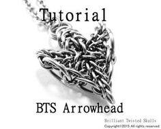 Tutorial for BTS Arrowhead Chain Maille Pendant by BrilliantSkulls