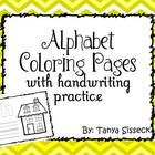 Very cute alphabet coloring pages for each letter from a to z.  Also includes alternate versions of a and g.  Each page consists of an uppercase le...