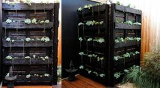Would be good idea to hide garbage cans or air conditioner 8. Outdoor Plant Shelf and Screen | Community Post: 16 Stylish Pallet Projects