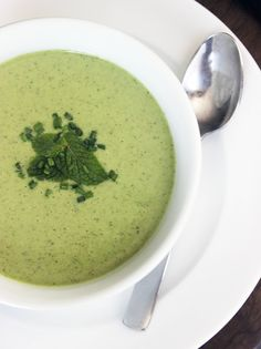 Unwind and Debloat With Low-Calorie Cucumber Mint Soup. I'm going to try it without garlic and chives because I just want a cool minty soup.