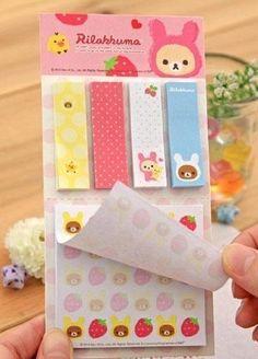 Memo Pad süßen Cartoon Notizblöcke, Haftnotizen Set Lustige Rilakkuma Labels Craft (Pink) Lau&Home http://www.amazon.de/dp/B00D2D9L98/ref=cm_sw_r_pi_dp_PKHqvb0V93HV3