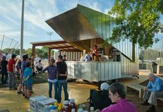 Lions Park Concessions Stand by Rural Studio in Hale County, Alabama